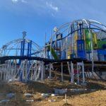 メットライフドームエリア改修工事トピックス④ ドームの前にもうひとつのドーム?レオ党ジュニアのお城は完成間近だ!